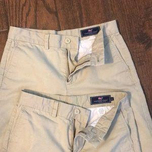 2 pair boys Vineyard Vines kaki shorts